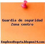 Guardia de seguridad Zona centro