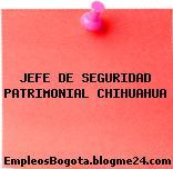 JEFE DE SEGURIDAD PATRIMONIAL CHIHUAHUA