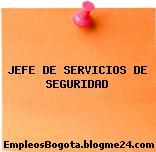 JEFE DE SERVICIOS DE SEGURIDAD