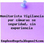 Monitorista – Vigilancia por cámaras se seguridad, sin experiencia