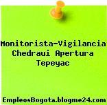 Monitorista-Vigilancia Chedraui Apertura Tepeyac