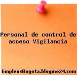 Personal de control de acceso Vigilancia