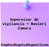 Supervisor de vigilancia – Navieri Zamora