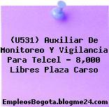 (U531) Auxiliar De Monitoreo Y Vigilancia Para Telcel – 8,000 Libres Plaza Carso